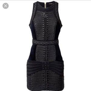 Balmain x H&M black roped dress